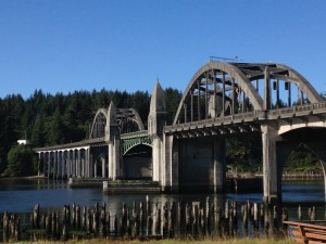 Siuslaw River Bridge. Designed by Conde McCullough and built in 1936.