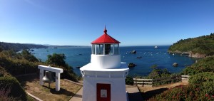 Trinidad - authentic fog bell, replica of the lighthouse