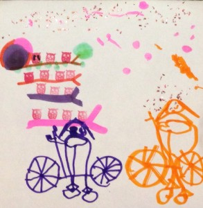 Jade's rendition of us cycling
